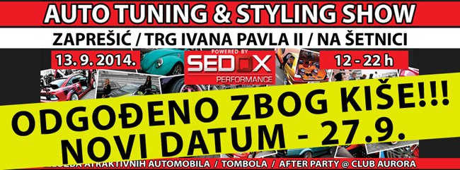 27.9.2014 / 2.Auto tuning & styling show @ Zaprešić, glavni gradski trg Cover_ODGODA_web