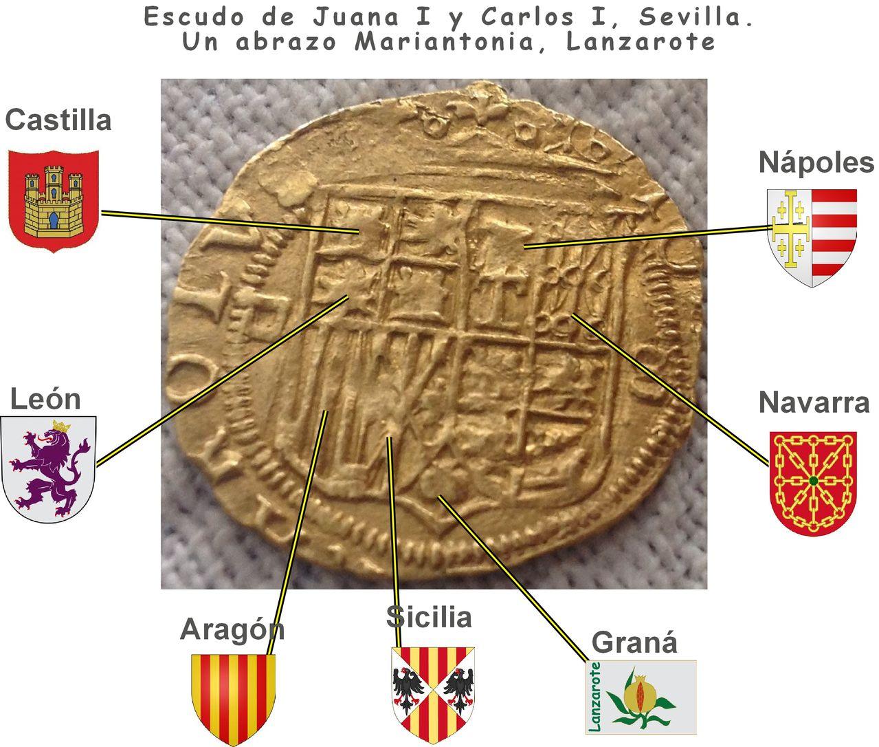 Escudo Juana y Carlos Sevilla. Dedit Lanzarote Escudo_carlos_y_juana