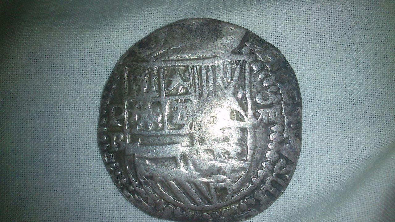 8 reales de Felipe III, Potosí, ensayador Ballesteros. 222