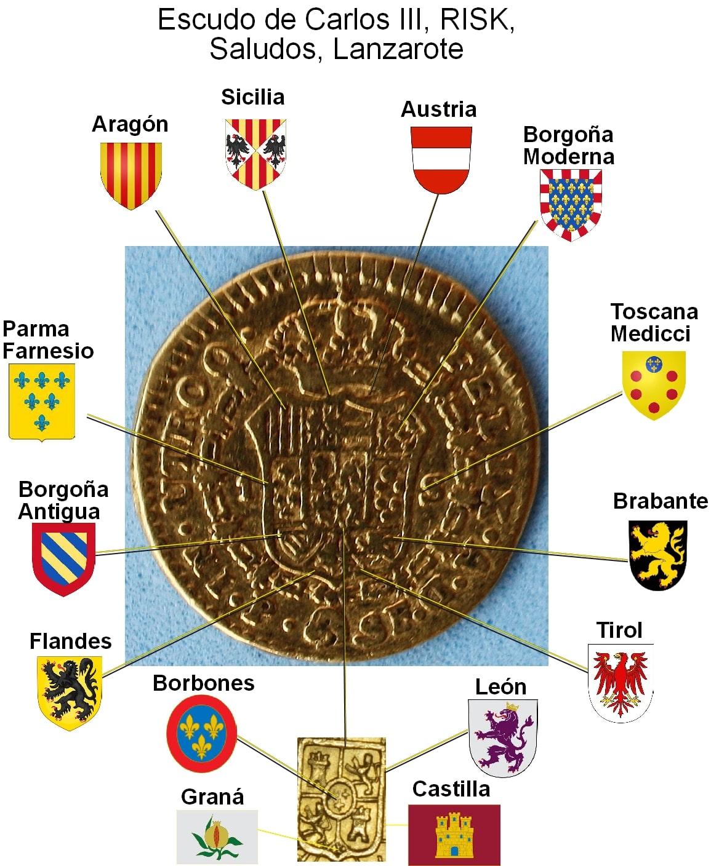 1 Escudo Carlos III 1788 Popayán Escudo_carlos_iii_desglose