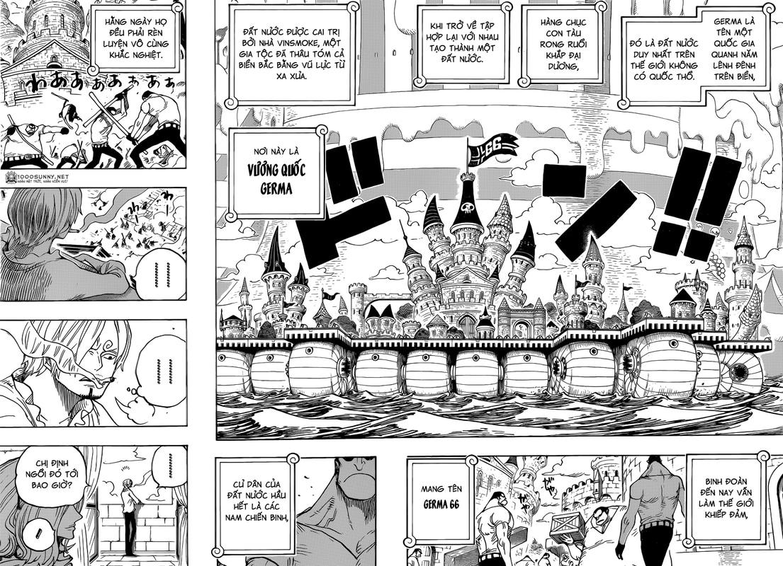 One Piece Chapter 831: Cuộc thám hiểm trong khu rừng kỳ lạ. 012_013