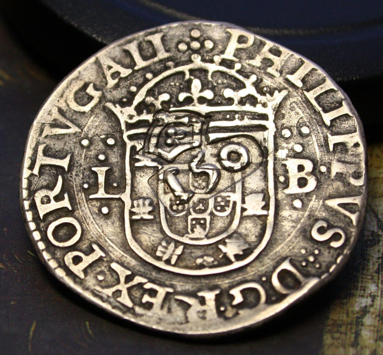 Tostao de Felipe III, Lisboa, dedicado al amigo jaenero 03_ANVERSO