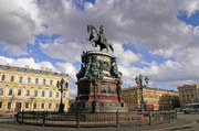 Rusia 1 Rublo 1.859 Memorial de Nicolás I Equestrian_monument_to_nicholas_i_in_st_petersbu