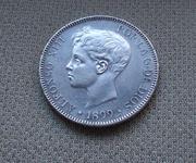 5 pesetas 1899 (*18- 99). Alfonso XIII IMG_2853