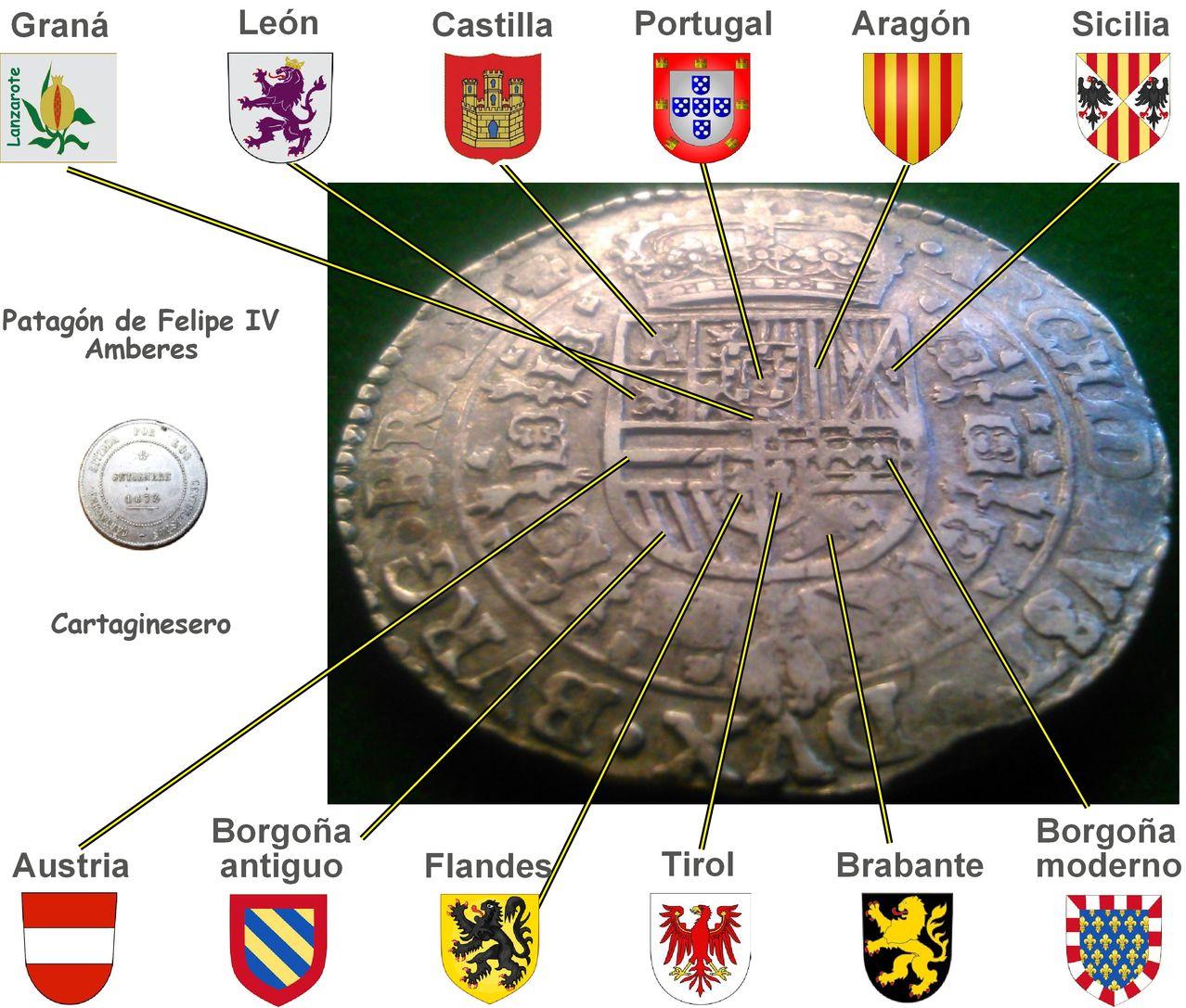 1 Patagón. Felipe IV 1654 Amberes. Dedicada a Lanzarote Clipboard02