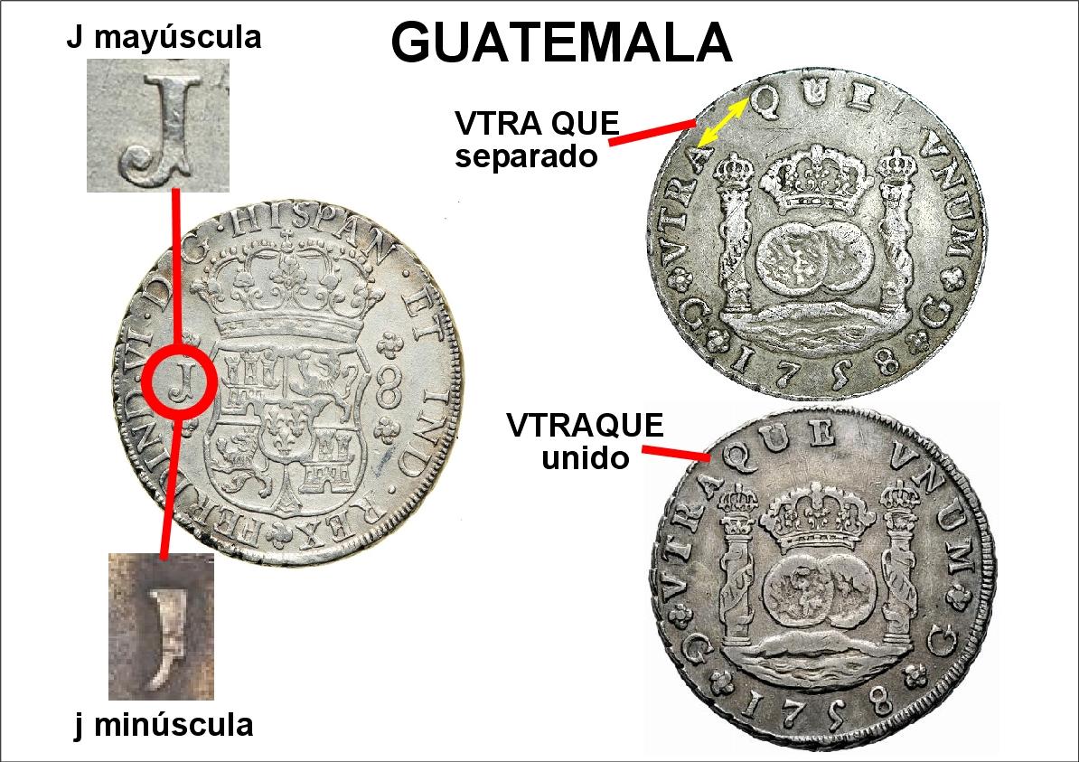 Reales de a 8 tipo columnarios. Z_guatemala