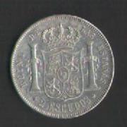 2 escudos 1867. Isabel II. Madrid 2_escudos_isabel_001