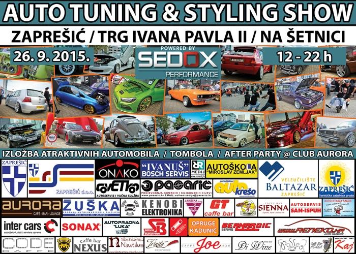 26.9.2015 - 3.Auto tuning & styling show by AK Zaprešić @ Zaprešić Plakat_web