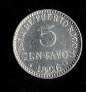 5 centavos de peso 1896. Alfonso XIII. Puerto Rico Puerto_Rico_5