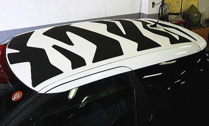 Protezione stickers Zebra su Citroen DS3 Cd1_13f31a4e4b5