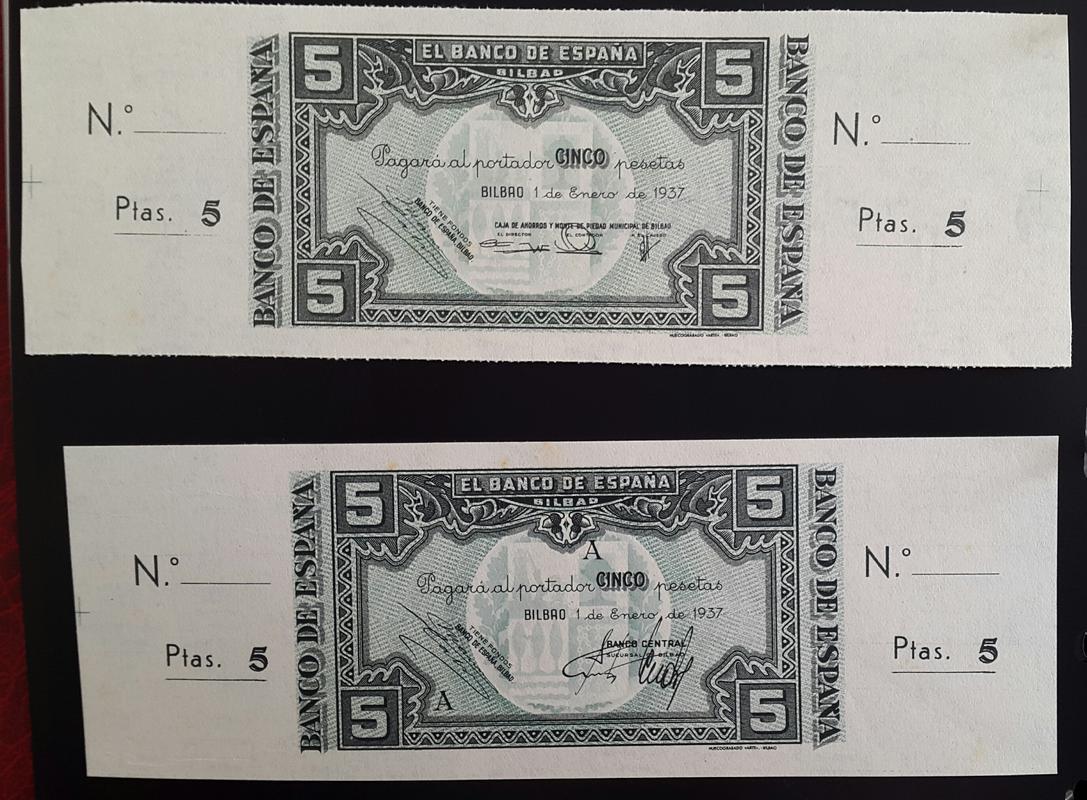 Lote de billetes de Bilbao 1937 y sus manchitas 2018-07-23_18.53.47