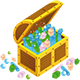 Loca nueva aterroriza la ciudad Treasure-chest-open-icon