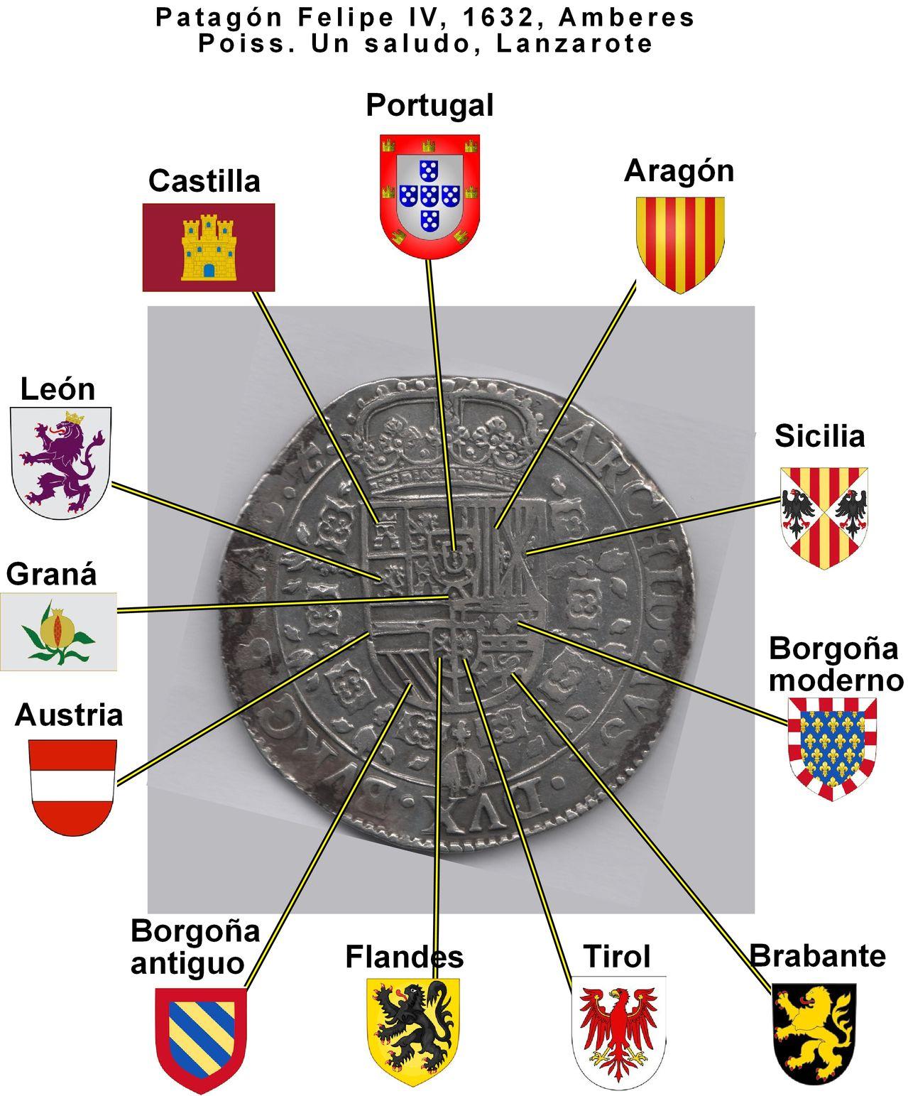Patagón 1632 Felipe IV, Amberes. Patag_n_poiss_desglosado