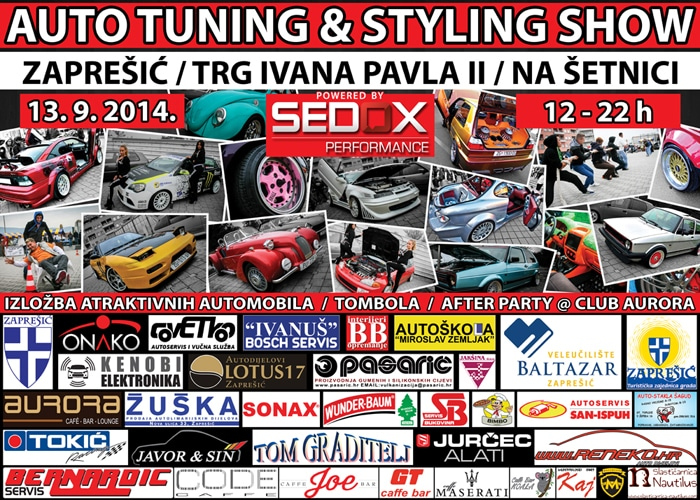 27.9.2014 / 2.Auto tuning & styling show @ Zaprešić, glavni gradski trg Plakat