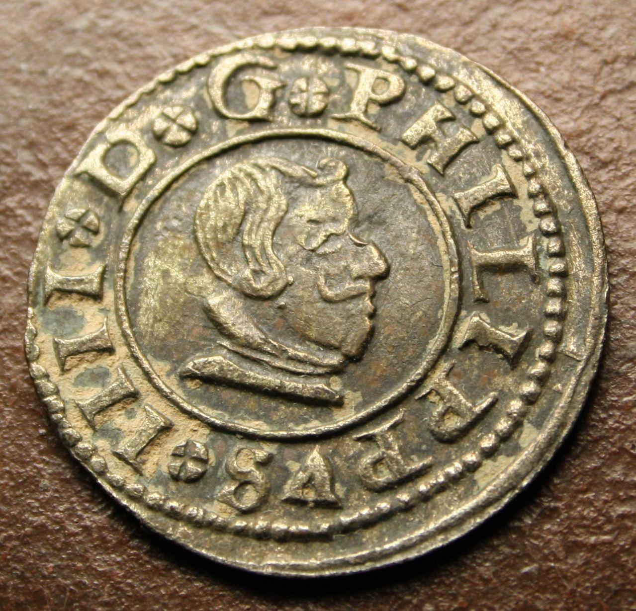 8 maravedís 1663. Felipe IV. Madrid Anverso