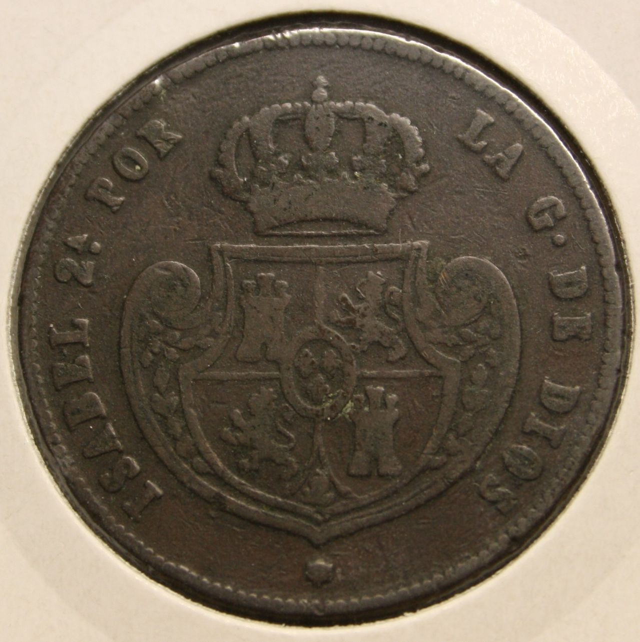 MEDIO REAL, CINCO DECIMAS 1848 ISABEL II - MADRID Isabel_ii_cobre_a