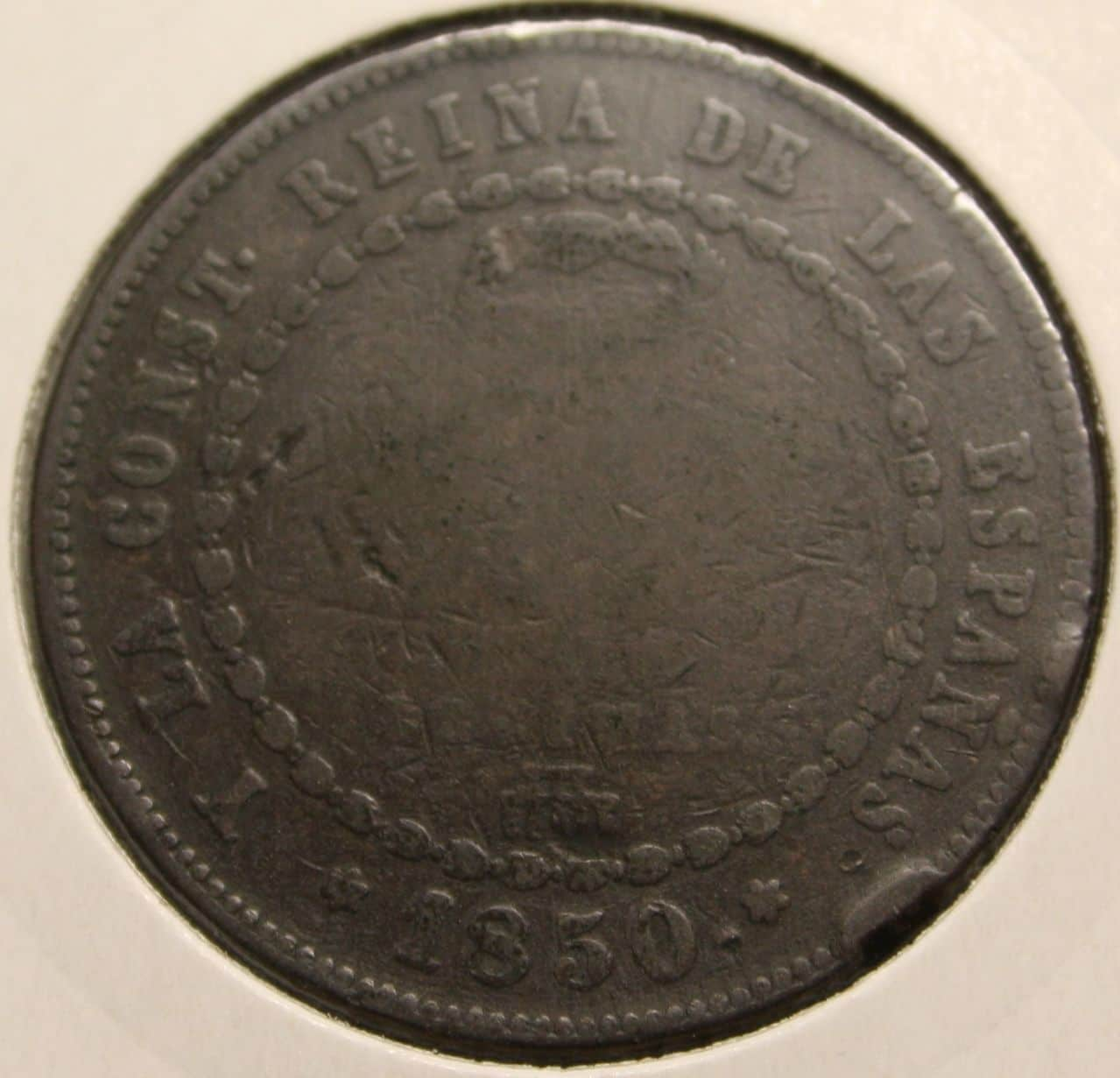MEDIO REAL, CINCO DECIMAS 1848 ISABEL II - MADRID Isabel_ii_cobre_b
