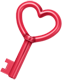 Roles para todos Key_heart_love_red