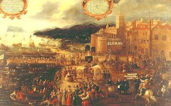 Tostao de Felipe III, Lisboa, dedicado al amigo jaenero 11_Embarco_moriscos_en_el_Grao_de_valencia