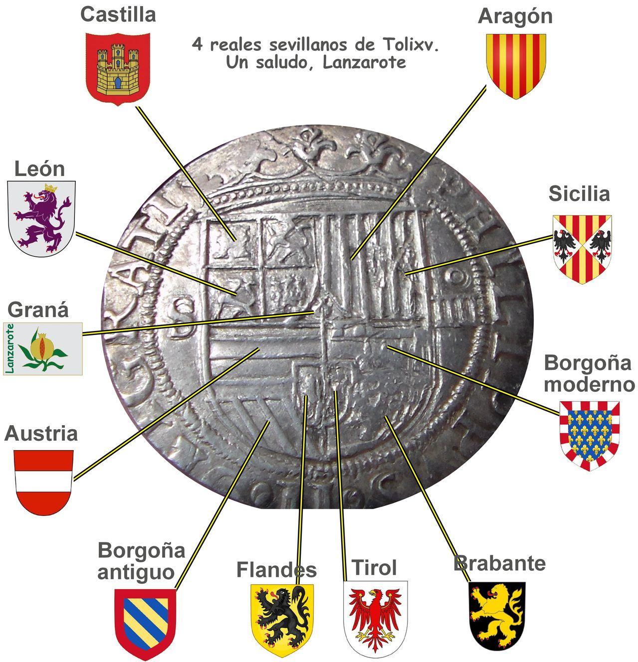 4 reales Felipe II, Sevilla. Sam_tolivx_4reales_sevilla