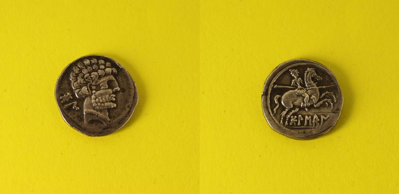 Monedas ecuestres ANTIGUA_Ibera_denario_Bolskan