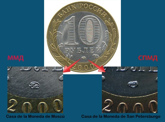 10 Rublos. Rusia (2000) Rusiasecas