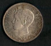 1 real 1852. Isabel II.Duda patina sobredorada. P_tina