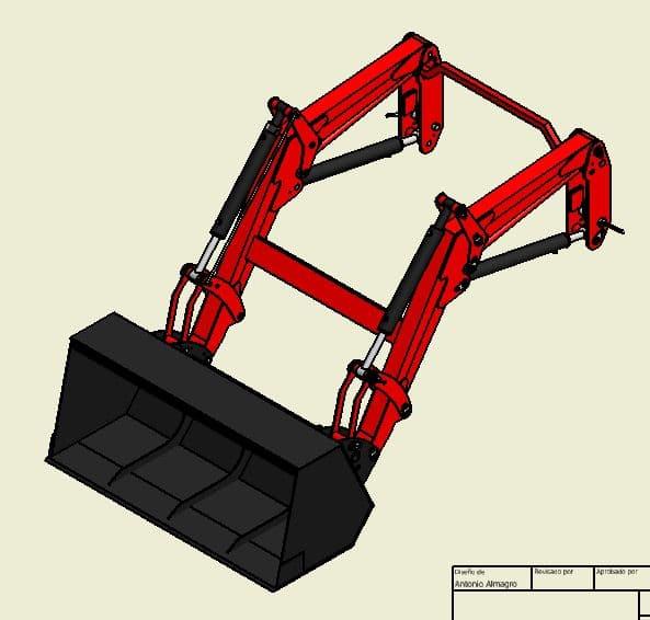 Proyecto de construccion de una pala para un mini tractor 002