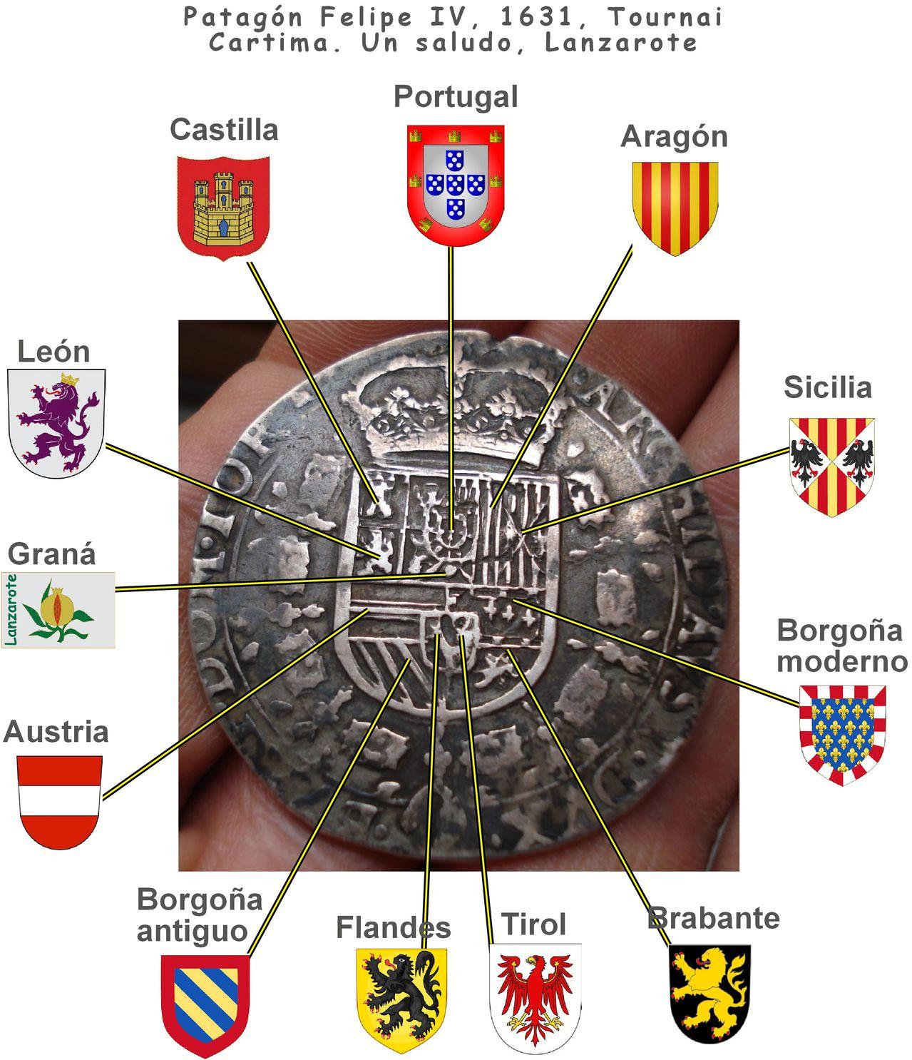1 patagón 1631. Felipe IV. Señorío de Tournai. Clipboard02