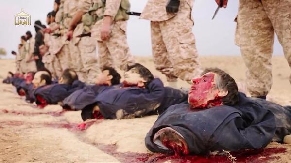 الدوله الاسلامية : شاهد ذبح نعاج بشار مشهد قوي جدا جدا B2j6ud6_CAAAmg_BA