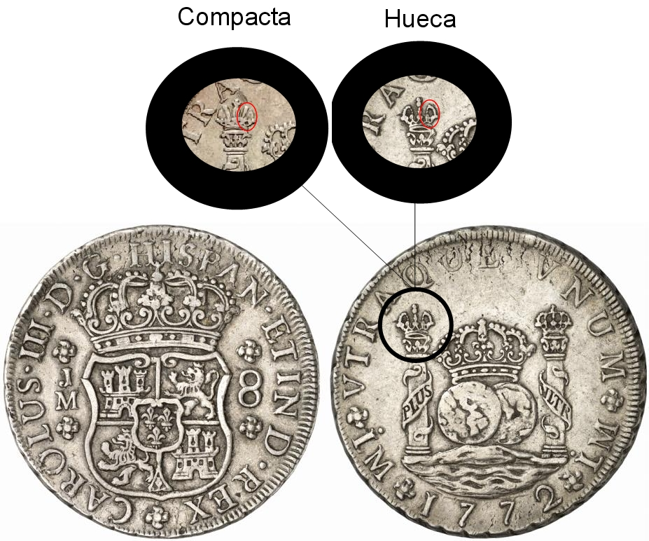 8 REALES CARLOS III -1771 - MÉXICO Hueca_compacta