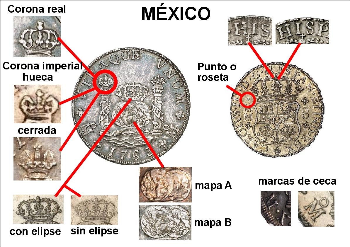 Reales de a 8 tipo columnarios. Z_mexico