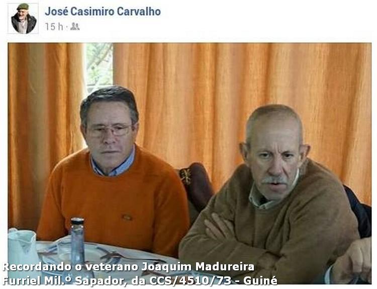 Faleceu o veterano Joaquim V Sá Madureira, Furriel Milº Sapadoir, da CCS/BCac4510/73 - 22Mar2016 11703388_113534775654008_6951755719487043432_n
