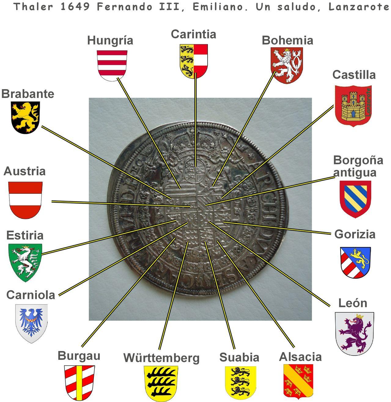 Tahler 1649 Fernando III, emperador del Sacro Imperio Thaler_emuliano