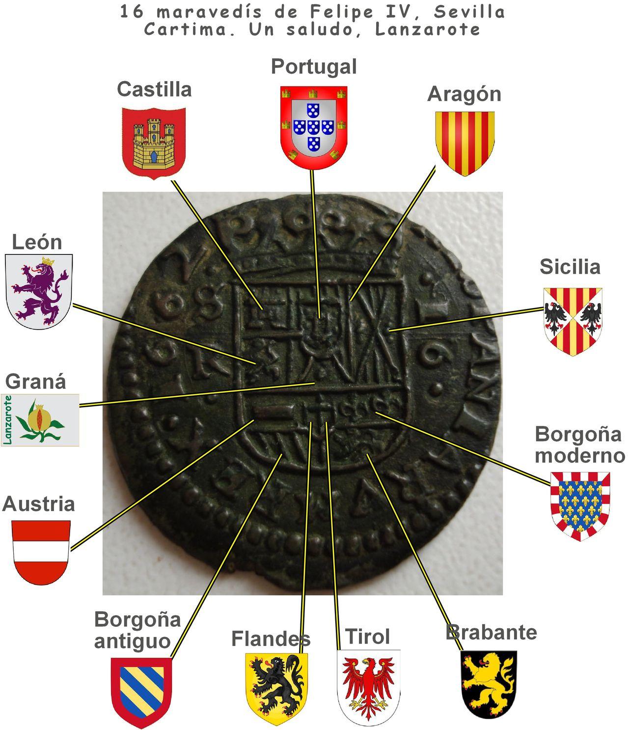 16 maravedís de Felipe IV, 1662, Sevilla. Clipboard01