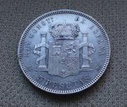 5 pesetas 1899 (*18- 99). Alfonso XIII IMG_2854