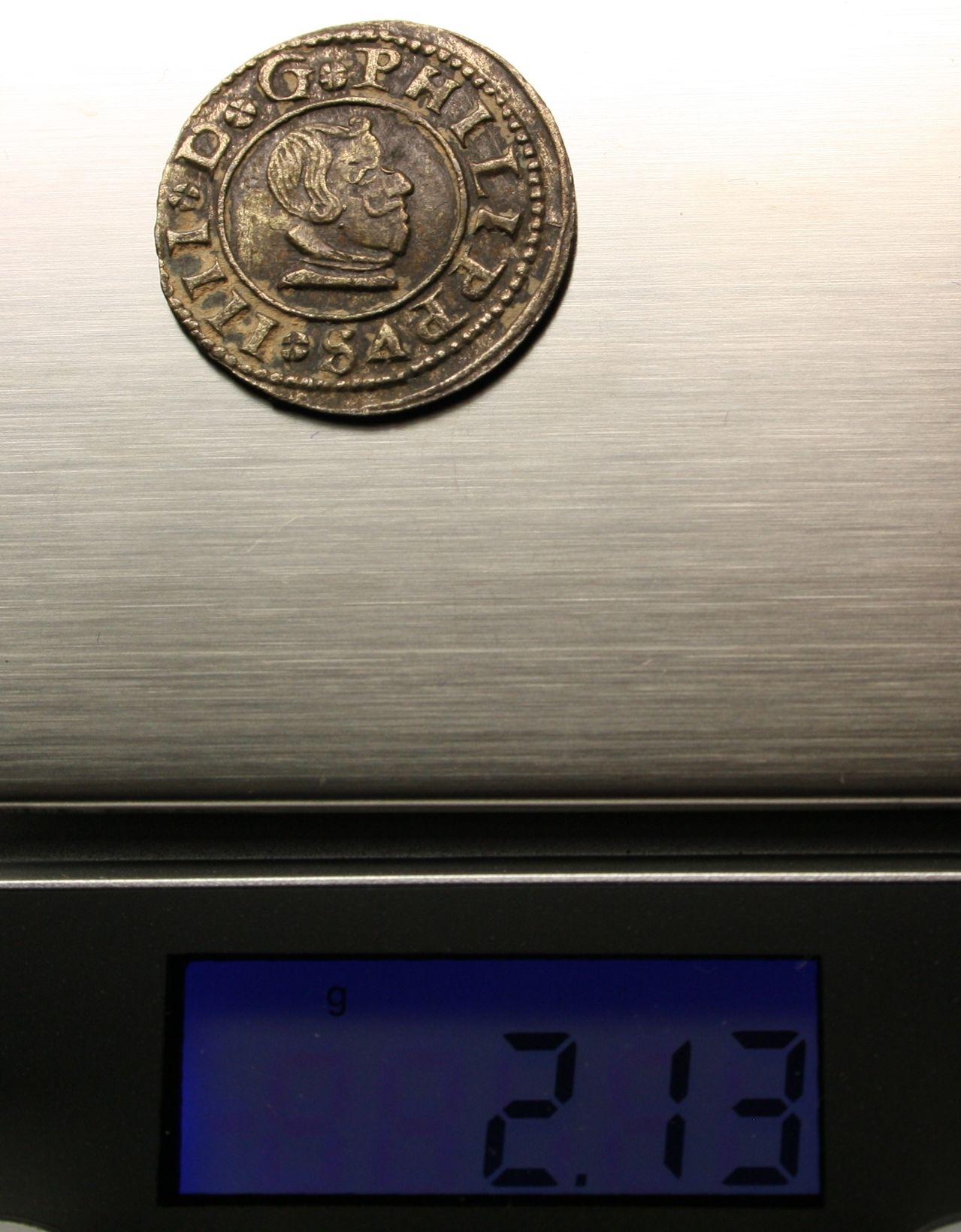 8 maravedís 1663. Felipe IV. Madrid Peso