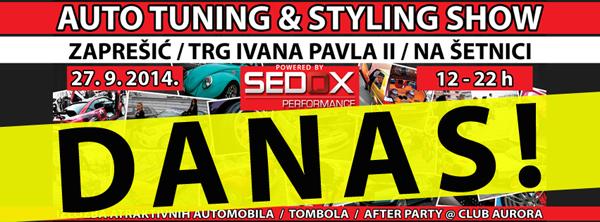 27.9.2014 / 2.Auto tuning & styling show @ Zaprešić, glavni gradski trg Cover_DANAS