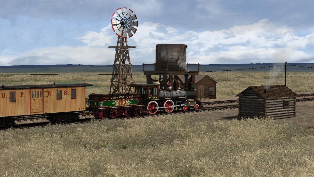 """TS2018 - Rota Cheyenne 1869 com a UP190 """"America"""" Screenshot_Cheyenne_1869_41.09947--104.90102_15-29-37"""