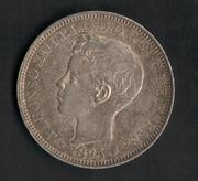 1 peso 1895. Alfonso XIII. Puerto Rico Puerto_Rico
