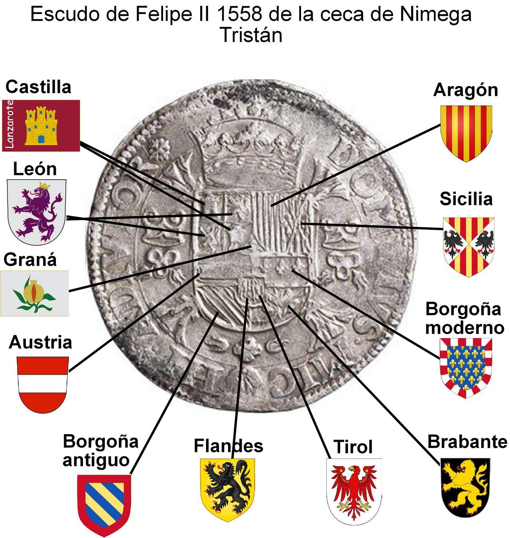 Monedas acuñadas en los Paises Bajos a nombre de Felipe II - Página 6 Escudo_trist_n_desglosado