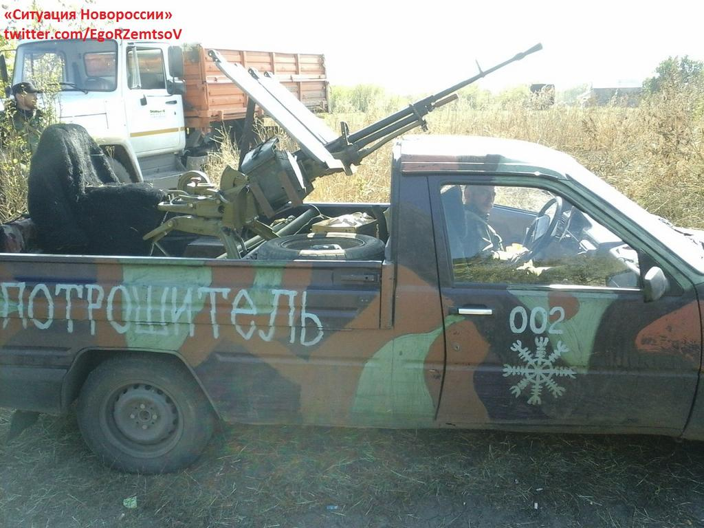 Donbass Liberation War Multimedia - Page 2 IZh_2717_Pickup_with_NSV_on_AA_mount_Novorussia