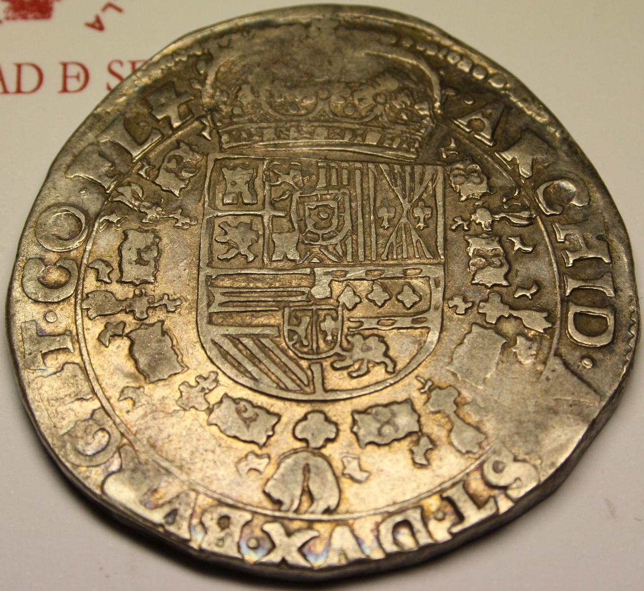 Patagón de 1623. Felipe IV, Flandes, dedicado a Poiss y a Jorge Reverso