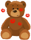 Cree, en que Él, tu y yo, somos reales [Priv. Nero] Cute_Bear_with_Kisses_PNG_Clipart_Picture