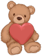 Me fui~~~~ me voy adiou Teddy_Bear_with_Heart_PNG_Clip_Art_Image