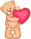 Tha Rain ID Transparent_Teddy_Bearwith_Red_Heart_PNG_Clipart