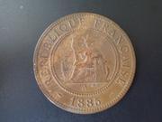 1 Céntimo de 1.885 de la Cochinchina francesa DSCN1895