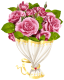 Dos en uno Rose_Bouquet_with_Heart_Transparent_PNG_Clip_Art_Image