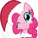 The dark fun. Merry_christmas_pinkie_pie_vector_by_themightysqueegee-d4vygja