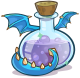 El vaticinio del bosque. Medieval_2013_Potions_Blue_Puffle_Dragon